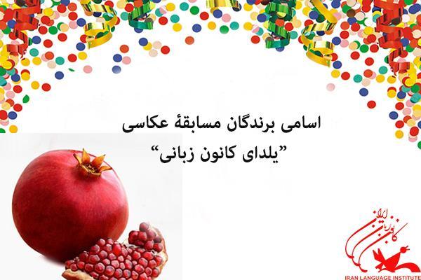 """اعلام اسامی برندگان مسابقۀ عکاسی """"یلدای کانون زبانی"""""""